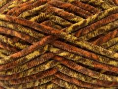 Chenille Safari - hnědozlatooranžová