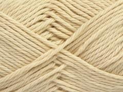 Čistá bavlna - tmavě krémová