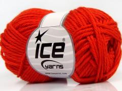 Čistá bavlna - tmavě oranžová