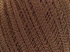 Daphne bavlna metalická - hnědozlatá