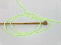Dětská vlna - neonově zelená