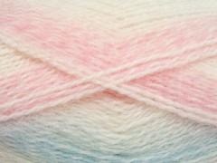 Dream mohér - světle růžovomodrobílá