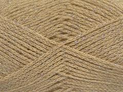 Elegantní metalická bavlna - béžová