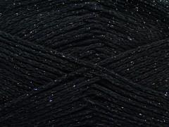 Elegantní metalická bavlna - černá