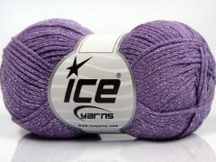 Elegantní metalická bavlna - fialová