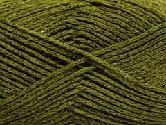 Elegantní metalická bavlna - khaki