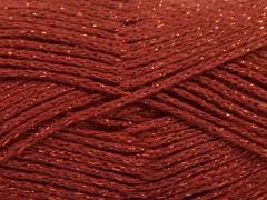 Elegantní metalická bavlna - měděná