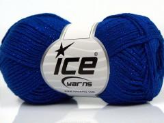 Elegantní metalická bavlna - modrá