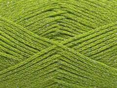 Elegantní metalická bavlna - pistáciově zelená