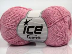 Elegantní metalická bavlna - světle růžová