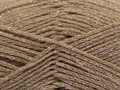 Elegantní metalická bavlna - světle velbloudí