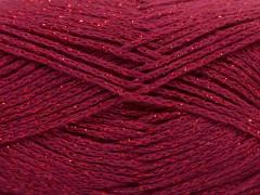 Elegantní metalická bavlna - tmavě fuchsiová