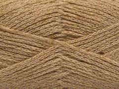 Elegantní metalická bavlna - tmavě krémová