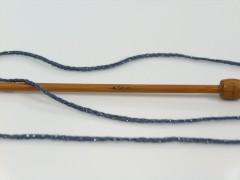 Elegantní metalická bavlna - tmavě šedá