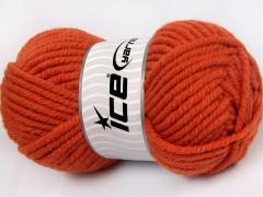 Elita vlna superbulky - tmavě oranžová