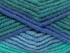 Elita vlna superbulky - zelenomodré odstíny