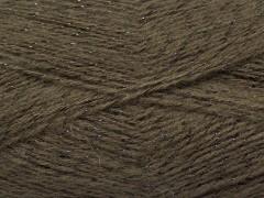 Elite shawl glitz - kávovo hnědá