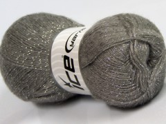 Elite shawl glitz - světle šedá