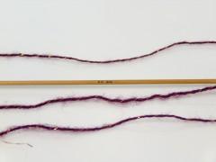 Elite shawl glitz - tmavě purpurová