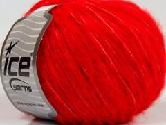 Fleecy vlna - ostře červená