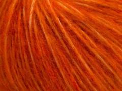 Fleecy vlna - tmavě oranžová