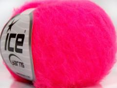 Fluffy superfajn - neonově růžová