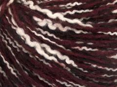 Folco bavlna mohér - černovínovobílá