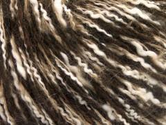 Folco bavlna mohér - hnědobílé odstíny