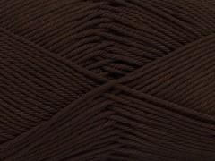 Giza bavlna - tmavě hnědá