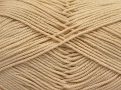 Giza bavlna - tmavě krémová