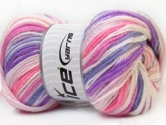 GumBall - fialovorůžovobílá