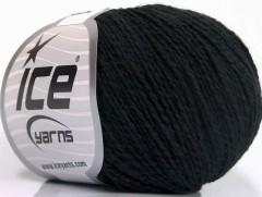 Hedvábí bavlna - černá