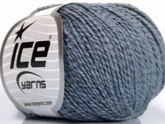 Hedvábí bavlna - indigo modrá