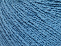 Hedvábí bavlna - modrá