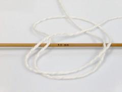 Hedvábí bavlna - přírodní bílá