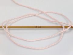 Hedvábí bavlna - pudrově růžová