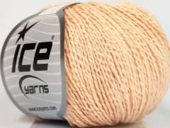 Hedvábí bavlna - světle lososová
