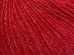 Hedvábné merino - červená
