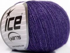 Hedvábné merino - purpurová