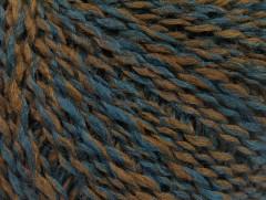Iris vlna - hnědotmavě tyrkysová