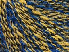 Iris vlna - modroolivovo zelená