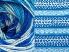 Jacquard vlna - modré odstíny