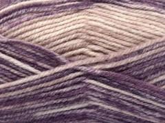 Jeans vlna - fialovopudrověrůžová
