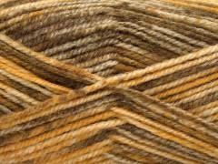Jeans vlna - hnědozlaté odstíny