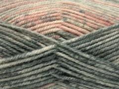Jeans vlna - lososové odstíny 1