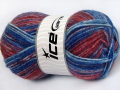 Jeans vlna - modročervenošedá
