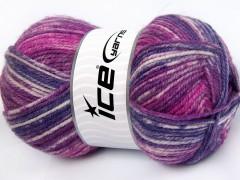 Jeans vlna - purpurovofuchsiová