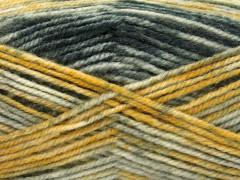 Jeans vlna - šedozlaté odstíny
