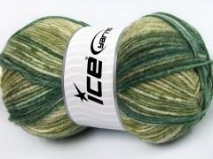 Jeans vlna - zelené odstíny