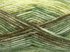 Jeans vlna - zelenohnědá